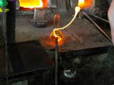 Glass blowing - serious talent. Hebron, West Bank